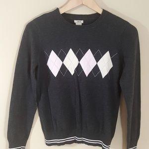 IZOD Argyle Graphic Long Sleeve Sweater, Size M